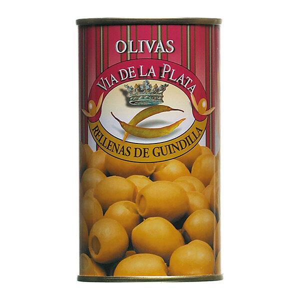 Grüne Oliven gefüllt mit Peperonipaste 350g aus Spanien