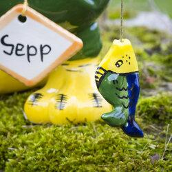 "Tangoo Keramik Rabe ""Sepp"" für den Garten..."