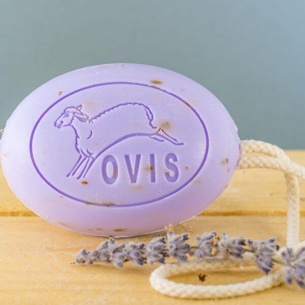 Ovis Schafmilch Duschseife Lavendel 200g / Kordelseife