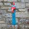 Keramik Hahnhals groß ozeanblau mit Effekten