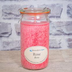 Stearinkerze Rose im XL WECK®-Glas mit...