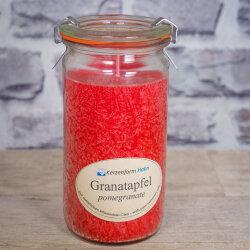 Stearinkerze Granatapfel im XL WECK®-Glas mit...
