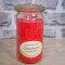 Stearinkerze Granatapfel im XL WECK®-Glas mit ätherischem Granatapfel Öl