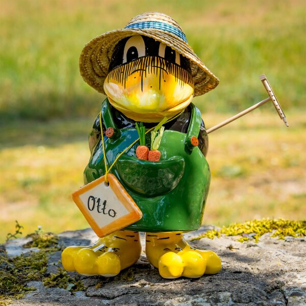 "Tangoo Keramik Rabe ""Otto"" für den Garten / Gartendeko / Gartenfigur"