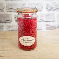 Stearinkerze im XL WECK®-Glas Weihnachtstraum mit...
