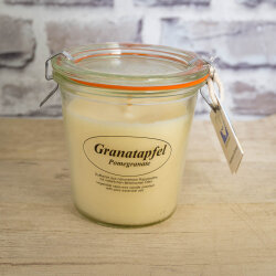 Rapswachskerze Granatapfel im XL WECK®-Glas mit...