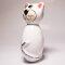 Keramik Katze für den Garten, klein weiß