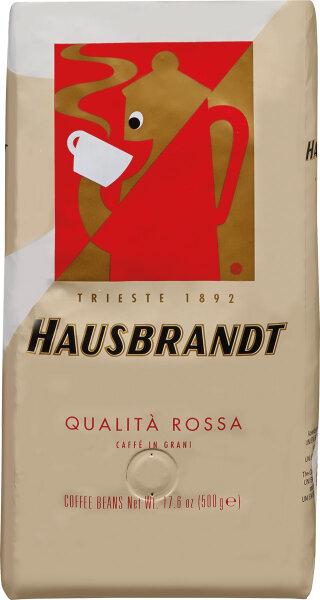 Geröstete Kaffeebohne-Mischung Qualita Rossa Hausbrandt 500g