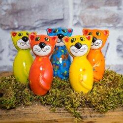 Keramik Katze Mini 7,5 cm