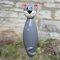 Keramik Katze groß grau glänzend  für den Garten