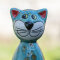 Keramik Katze klein mint  für den Garten