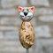 Keramik Katze hellbraun klein für den Garten