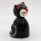 Tangoo Keramik Katze rund sitzend in schwarz