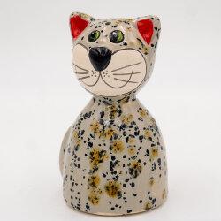 Tangoo Keramik Katze rund sitzend in beige