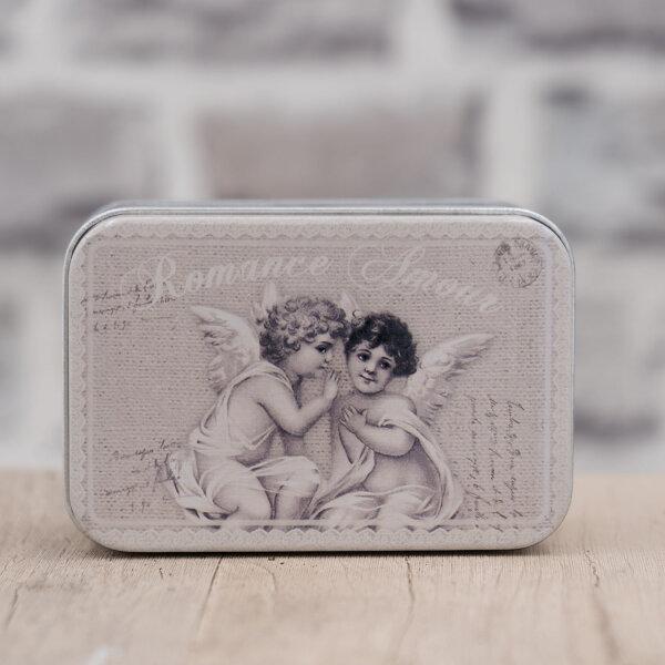 Blechdose / Seifenablage / Aufbewahrungsbox Engel 10,2 x 7 x 4,6 cm