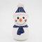 Tangoo Keramik Schneemann mit Mütze und Schal blau / Gartenstecker