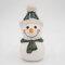 Tangoo Keramik Schneemann mit Mütze und Schal dunkelgrün / Gartenstecker
