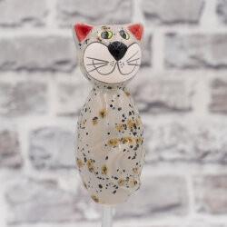 Keramik Katze beige klein für den Garten /...