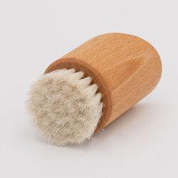 Gesichtsbürste rund aus Buchenholz mit Rosshaar von...