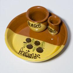 Handgetöpferte Olivenschale aus Spanien