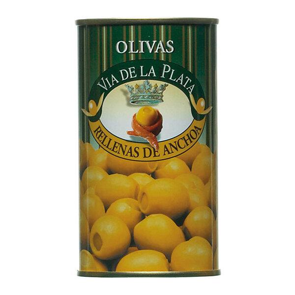 Grüne Oliven gefüllt mit Sardellenpaste 350g aus Spanien