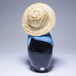 Tangoo Keramik Rabe klein blaues Halstuch für den Garten